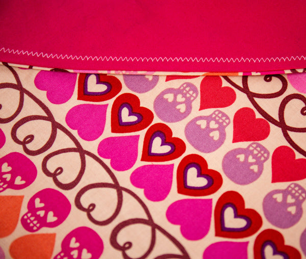 Skulls and Hearts Pet Bandana -Halloween