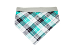 Teal Plaid Pet Bandana