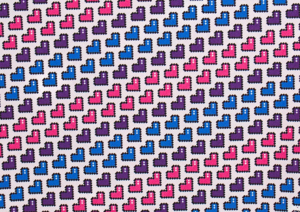 Purple Pink and Blue Hearts Pet Bandana