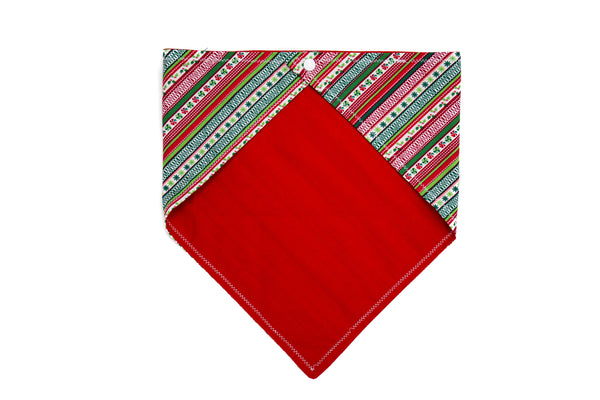 Christmas Stripes Candy Pet Bandana
