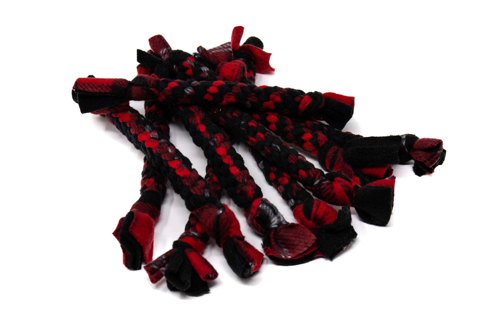 Red Fleece Rope Toy- Large