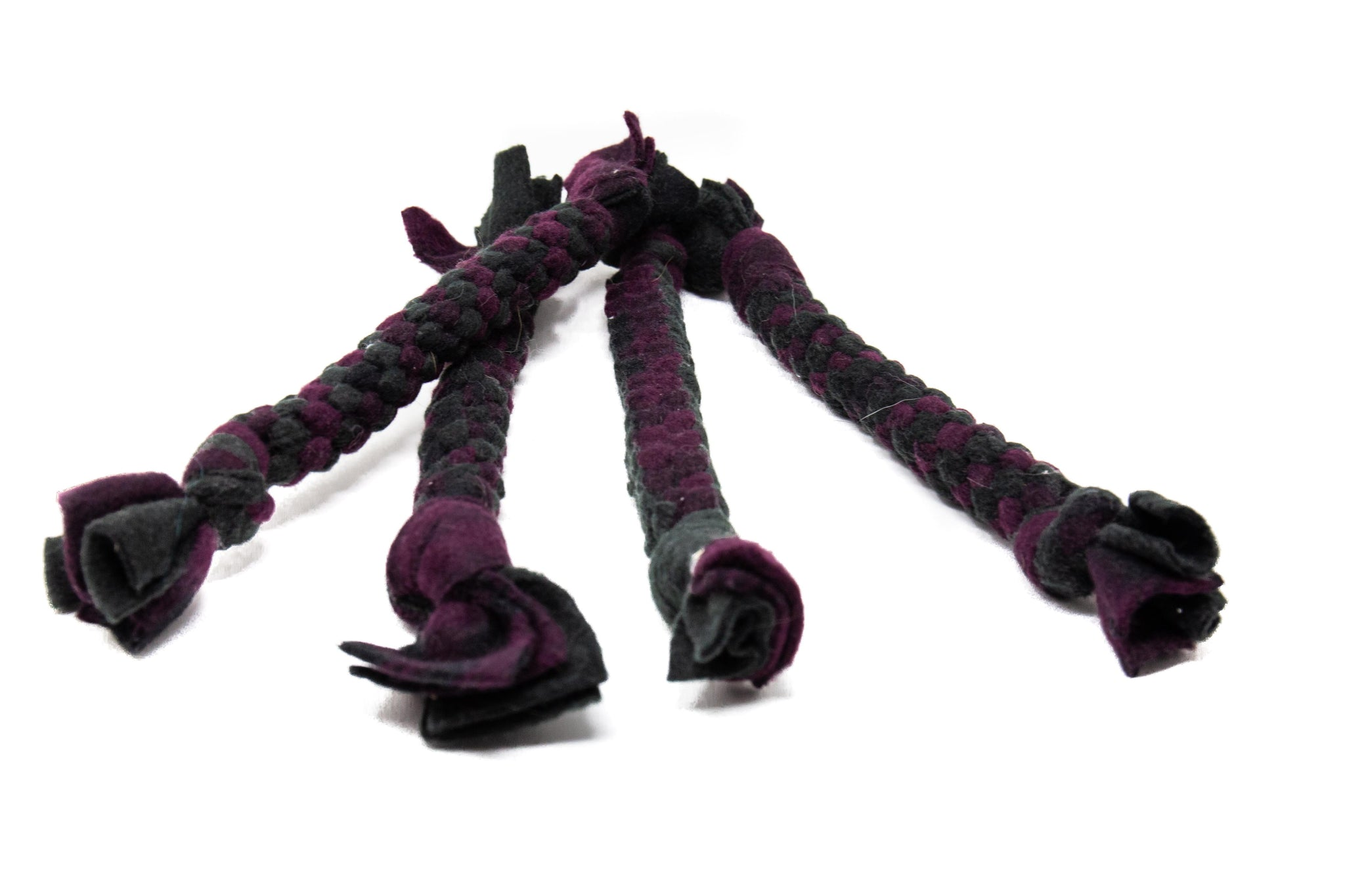 Purple Fleece Rope Toy- Large