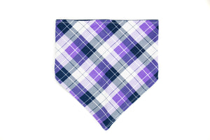 Light Purple Plaid Pet Bandana