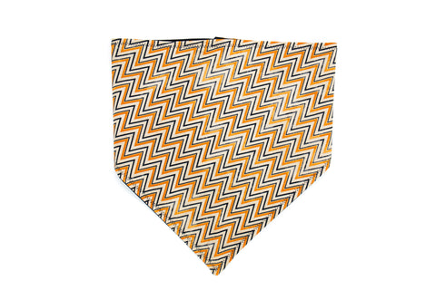 Fall Zig Zag Pet Bandana -Halloween