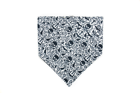 Gothic Skulls and Crows Pet Bandana -Halloween