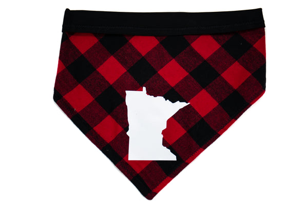 Minnesota- Red Plaid Pet Bandana