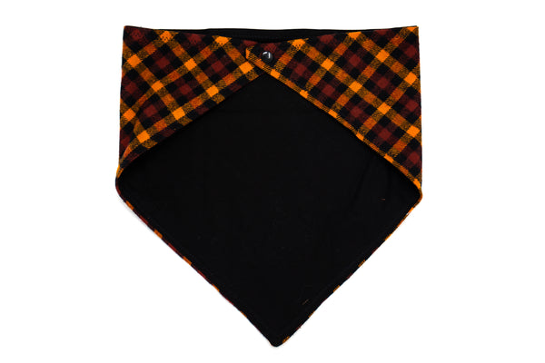 Minnesota- Orange Plaid Pet Bandana