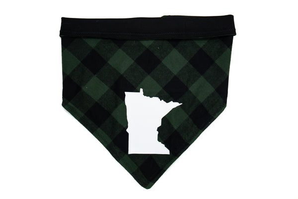 Minnesota- Green Plaid Pet Bandana