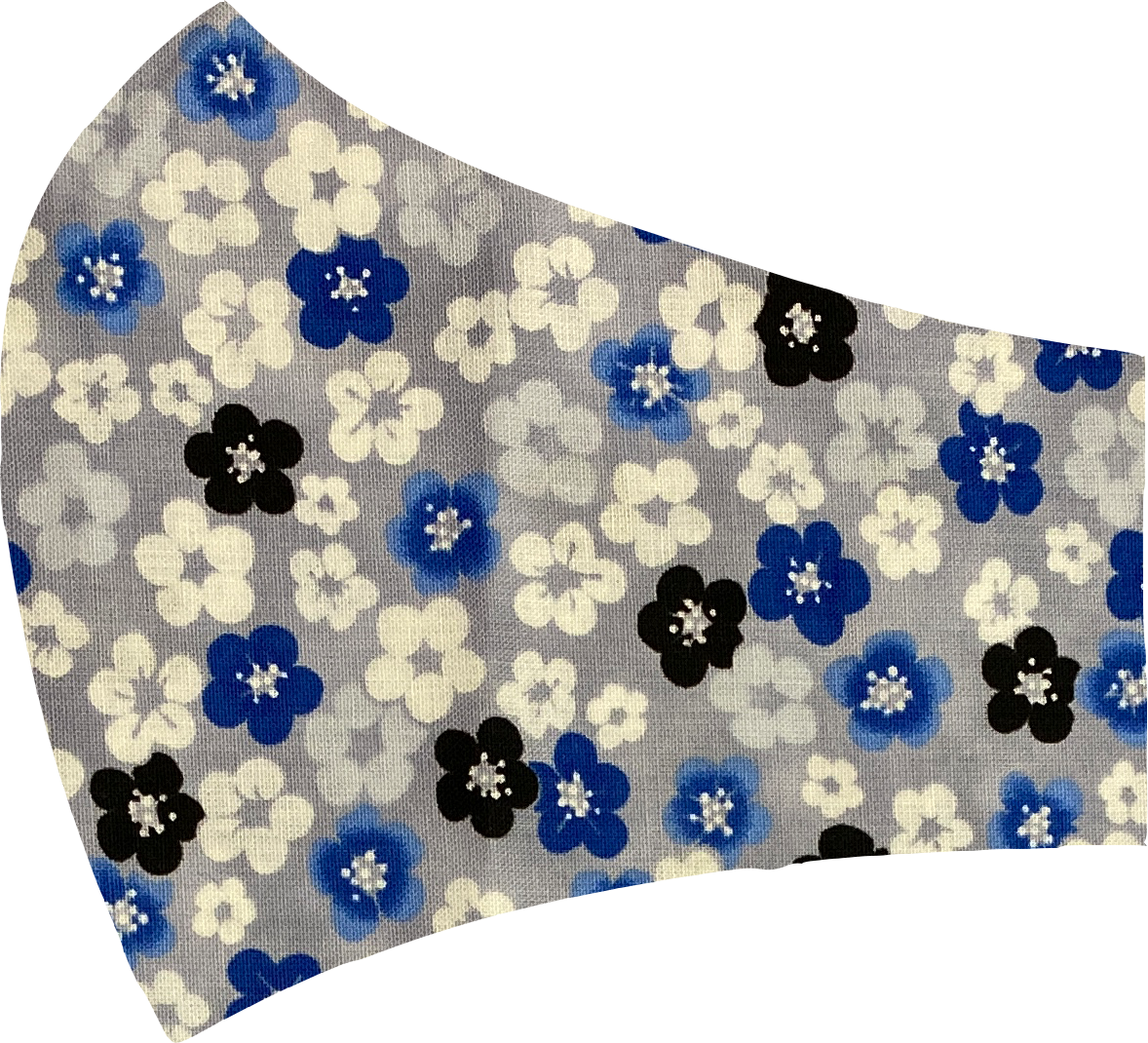 Blue Flowers Face Mask
