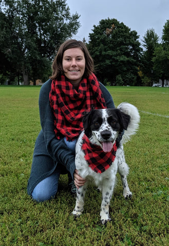 Red Plaid Mommy and Me Scarf Scarf Set