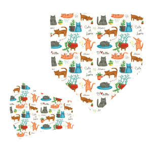 Playful Cats Matching Mask and Bandana Set