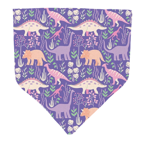 Purple Dino- Pet Bandana