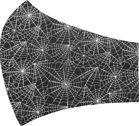 Black Spider Webs Face Mask