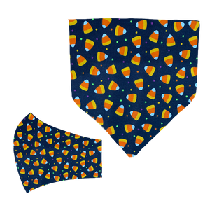Candy Corn Matching Mask and Bandana Set