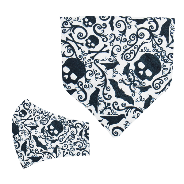 Gothic Matching Mask and Bandana Set