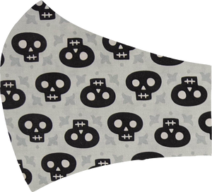 Black Skulls Face Mask