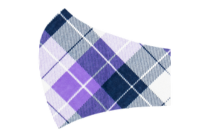 Purple Plaid Face Mask