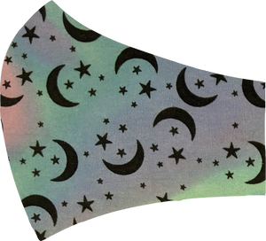 Pastel Stars and Moons Face Mask