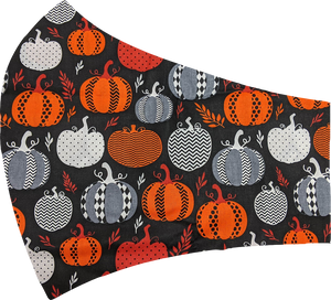 Patterned Pumpkins Face Mask