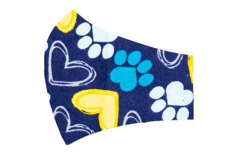 Paws and Hearts Face Mask