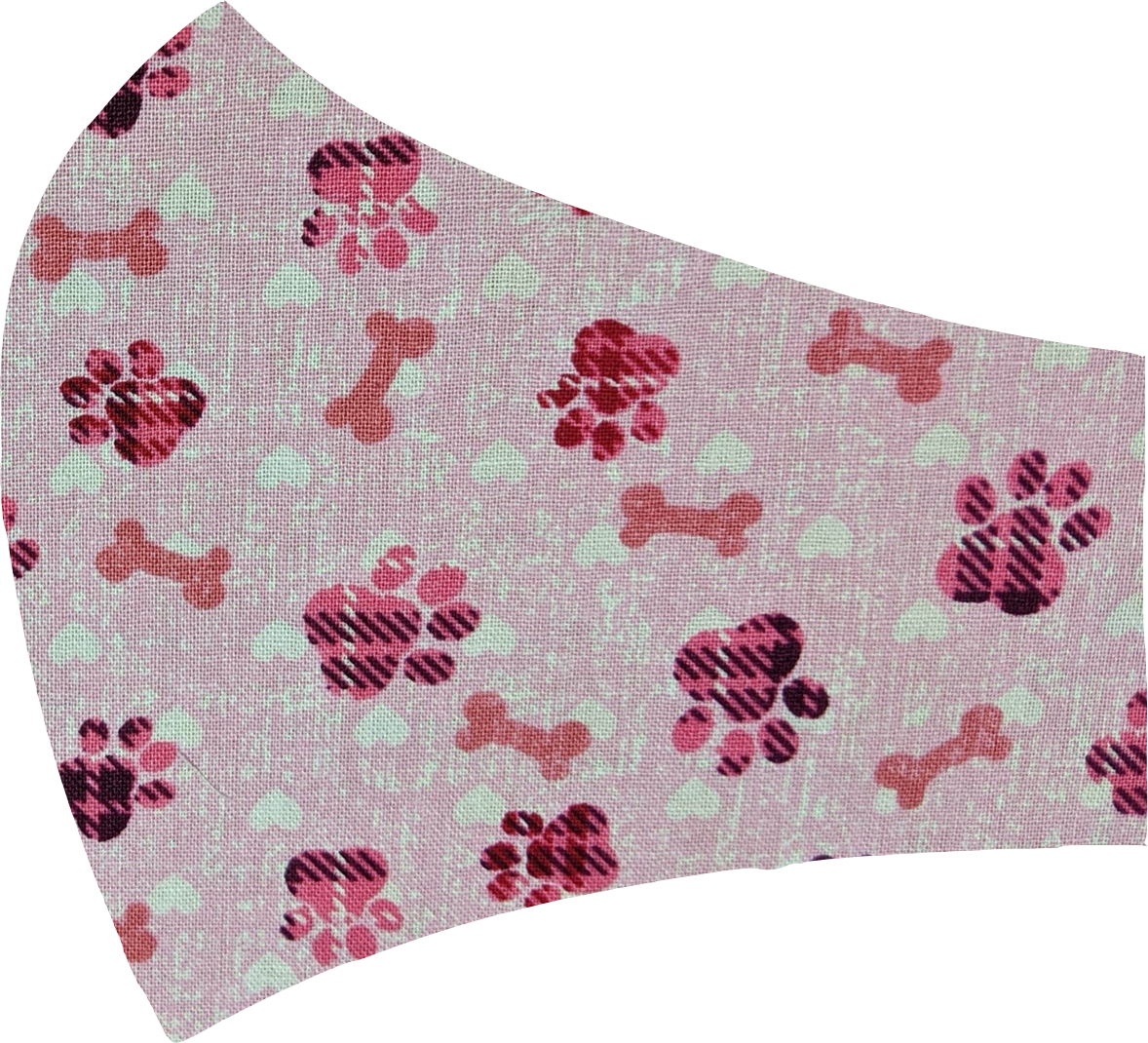 Pink Paws Face Mask
