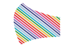 Rainbow Stripes Face Mask- Old Style