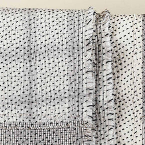 Chindi Indian Kantha Stitch Quilted Bedcover
