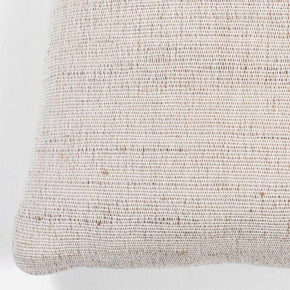 Indian Handwoven Tabby Ivory Pillow