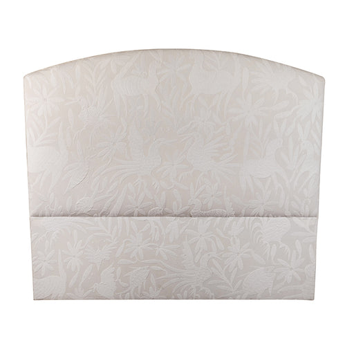 Queen Size Headboard with Embroidered Otomi Fabric