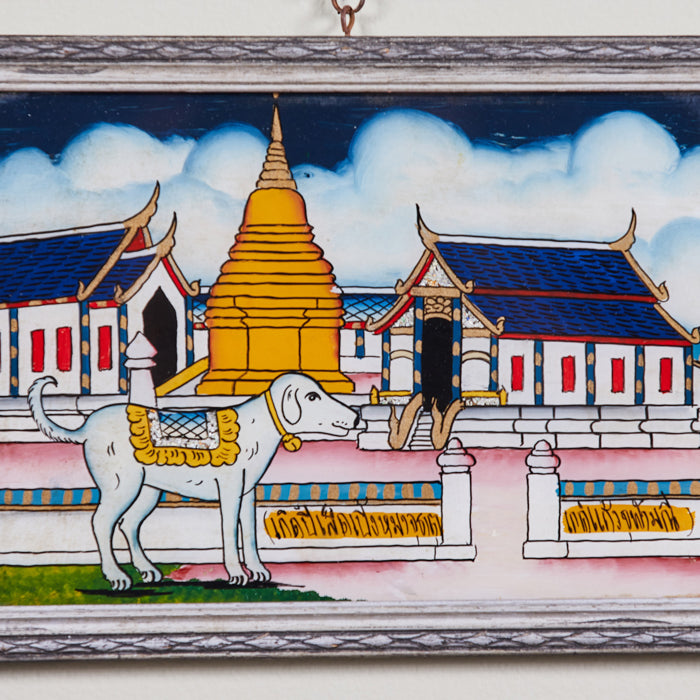 N. Thailand Astrological Eglomise Paintings