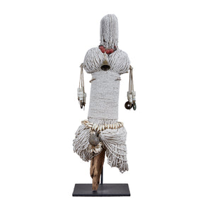 Beaded Fetish Figure on Stand - Cameroon