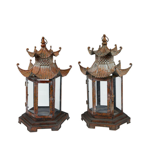 Pair Antique Chinoiserie Lanterns.