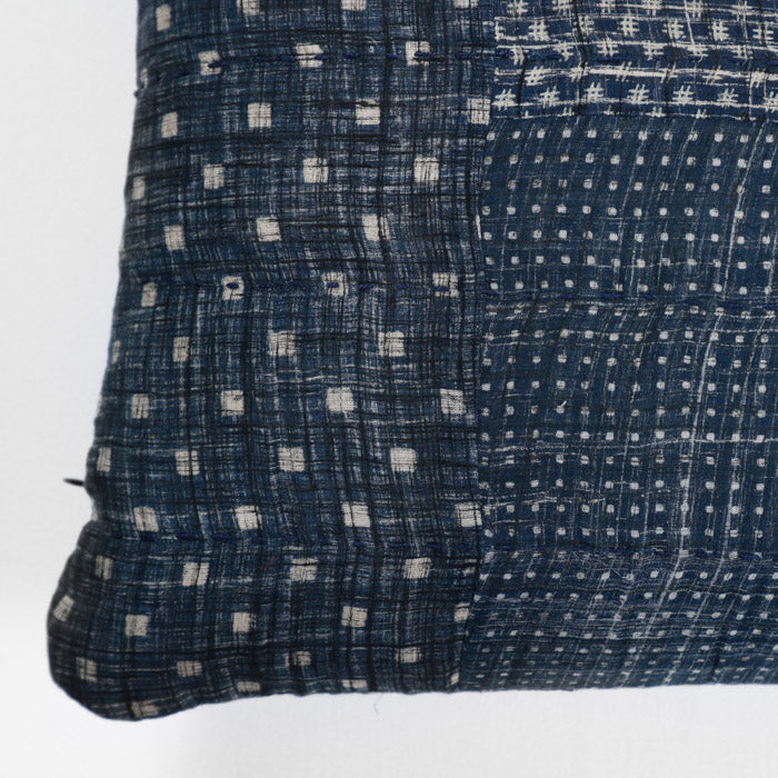 Blue Patchwork Pillow