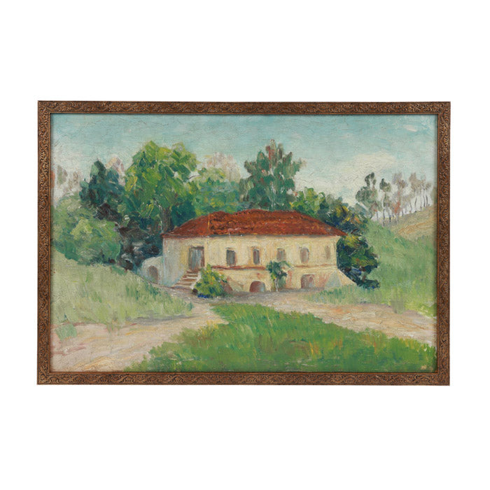 Italian Country House Painting.