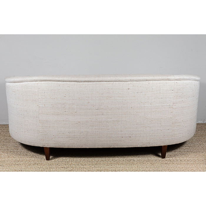 Curved Couch with Upholstery Fabric by Neeru Kumar for Pat McGann