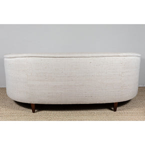 Curved Couch with Pat McGann Studio Upholstery Fabric