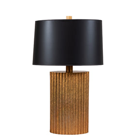 Hammered Metal Gold Lamp