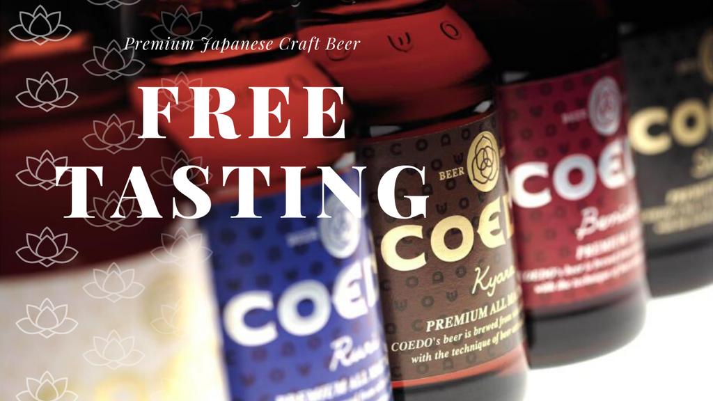 Coedo Japanese Craft Beer Tasting