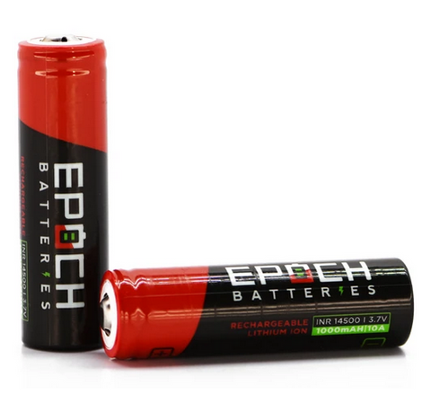 Epoch 1000 mAh Unprotected Button Top 14500 Battery