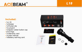 Acebeam® L18 1500 Lumen Flashlight