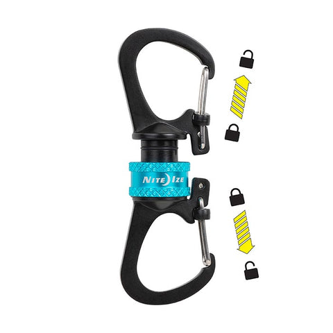 Nite Ize® Slidelock® 360 Magnetic Locking Dual Carabiner