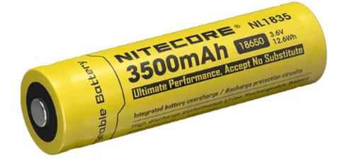 Nitecore® NL1835 Battery - 3500 mAh Protected Button Top