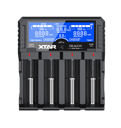 Xtar® DRAGON VP4 Plus - Charger, Conditioner and Tester
