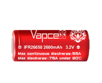 VapCell® 2600 mAh Flat Top 26650 Battery
