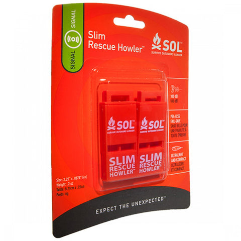 SOL® Slim Rescue Howler Whistle