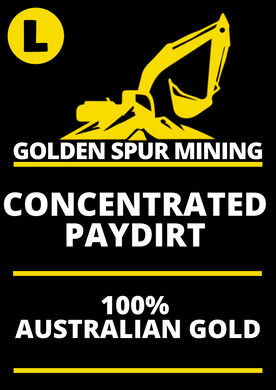 Golden Spur Large 750g Gold Pay Dirt Best Return Paydirt in Oz Australian Licenced Family Business Quick Delivery Full Support