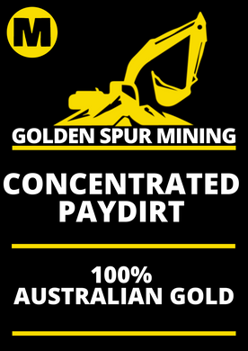 Golden Spur Med 250g Gold Pay Dirt Best Return Paydirt in Oz Australian Licenced Family Business Quick Delivery Full Support