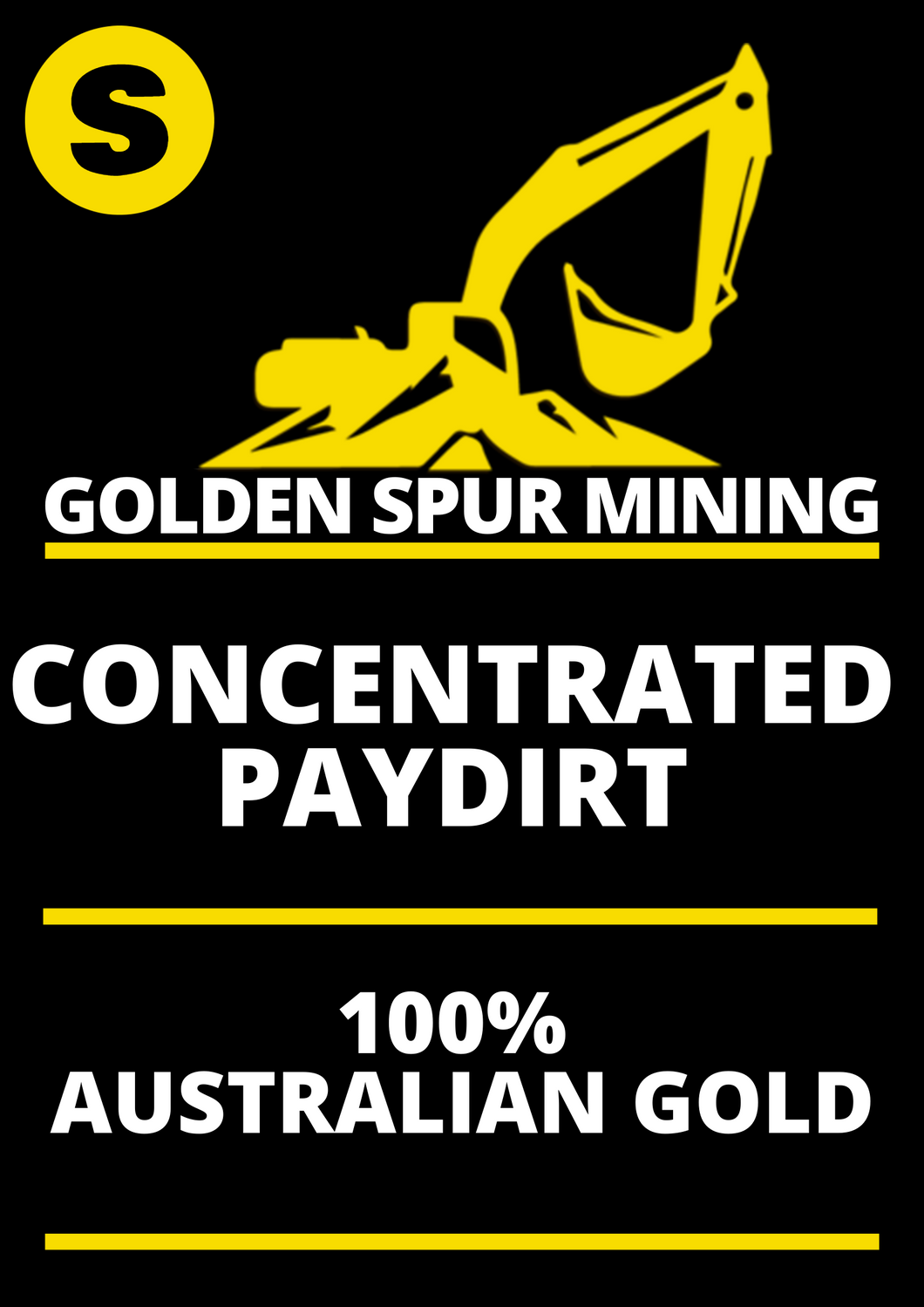 Golden Spur Small 150g Gold Pay Dirt Best Return Paydirt in Oz Australian Licenced Family Business Quick Delivery Full Support