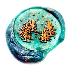 Pine Trees Wax Seal Head (Style 2)