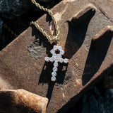 *FREE* Iced Out Ankh Pendant + Chain
